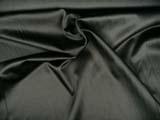 černý bavlněný satén se spandexem