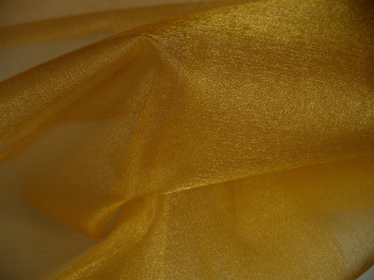 Organza zlatá, metráž, š. 150cm