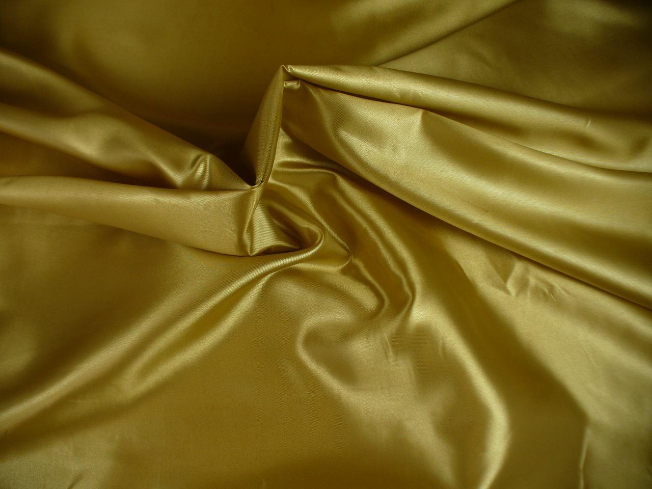 Podšívka zlatá saténová, metráž